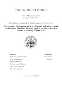 Predictive Maintenance for off-road vehicles based on Hidden