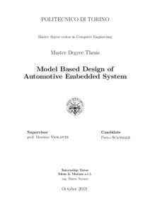 Model Based Design Of Automotive Embedded System Webthesis