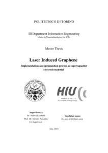 Laser Induced Graphene - Implementation and optimization