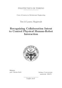 Recognizing Collaboration Intent to Control Physical Human-Robot