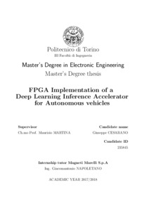 FPGA Implementation of a Deep Learning Inference Accelerator